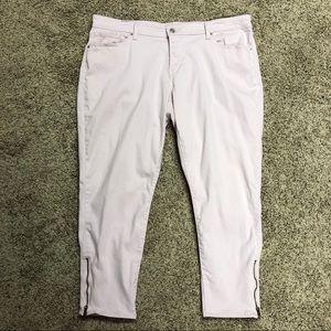 Levi's lt pink 711 skinny jeans 18W zipper ankle